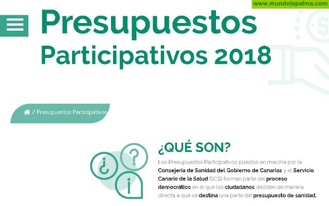 Sanidad recuerda que hasta el 23 de septiembre se pueden presentar propuestas a los Presupuestos Participativos del SCS