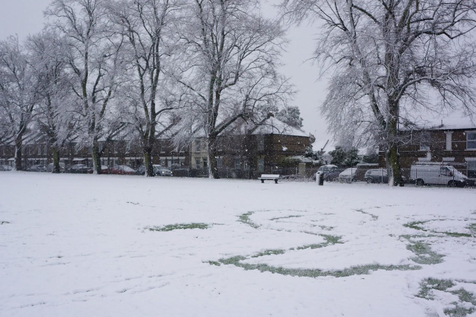 local park in snow