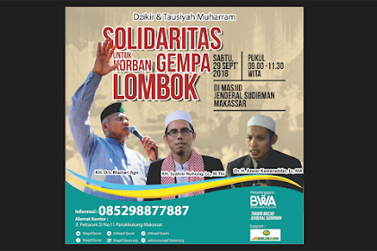 Besok Ada Dzikir dan Tausiyah Muharram, Solidaritas Untuk Korban Gempa Lombok
