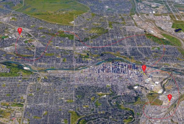 Calgary quantum teleportation