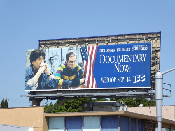 Documentary Now season 2 bunker billboard
