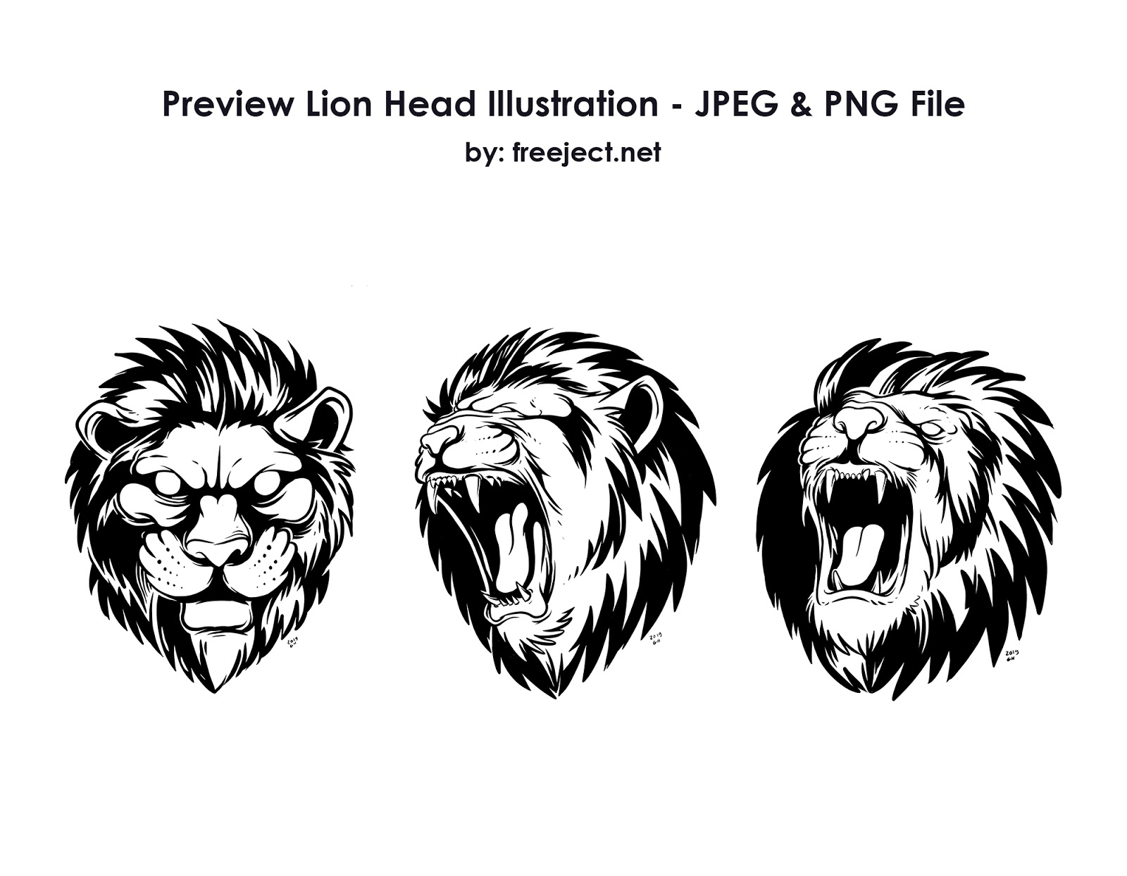 Free Download Lion Head Illustration