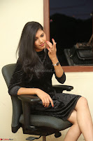 Mounika in a velvet short black dress for Tick Tack Movie Press Meet March 2017 004.JPG