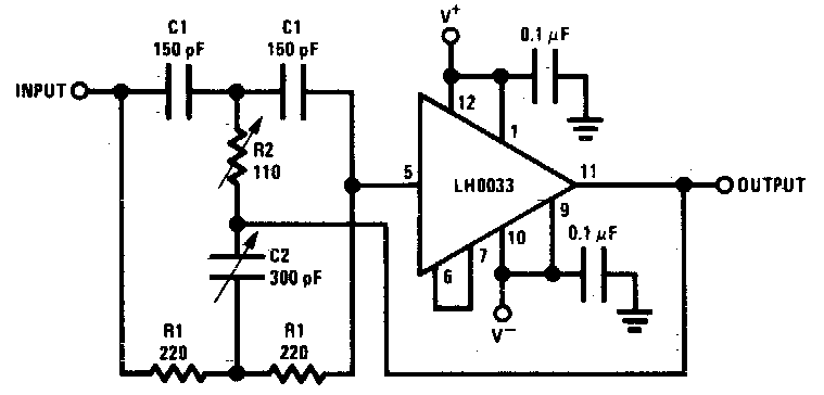 audio 4 5mhz notch filter circuit diagram