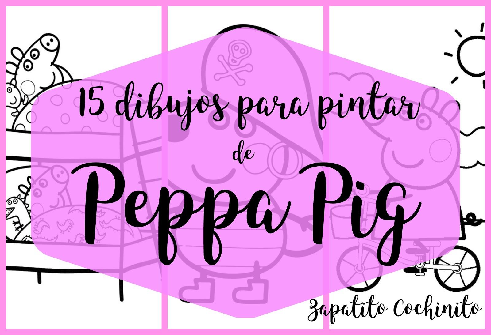 Zapatito Cochinito : 15 dibujos de PEPPA PIG para colorear , gratis