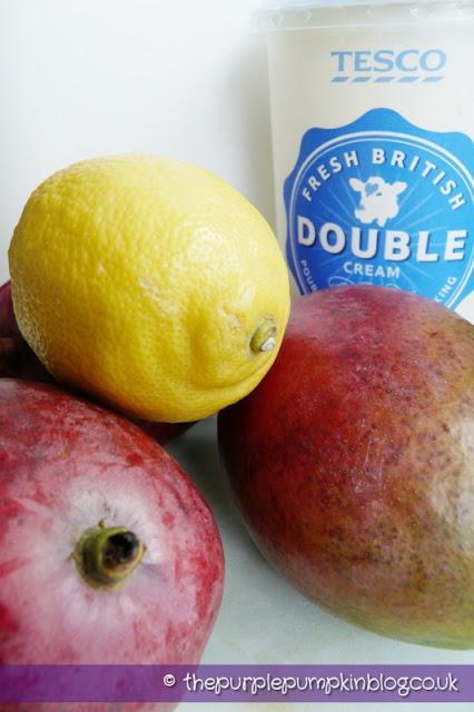 Marvellous Mango Ice Cream at The Purple Pumpkin Blog