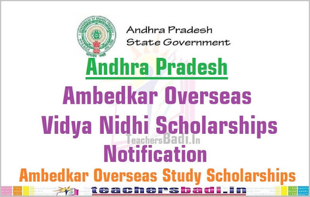 AP Ambedkar Overseas Vidya Nidhi scheme,Scholarships,notification