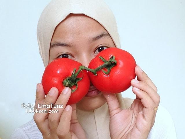petua tomato _ rawat kulit _ haluskan muka _ ema tunz _ lubuk seni _ 03