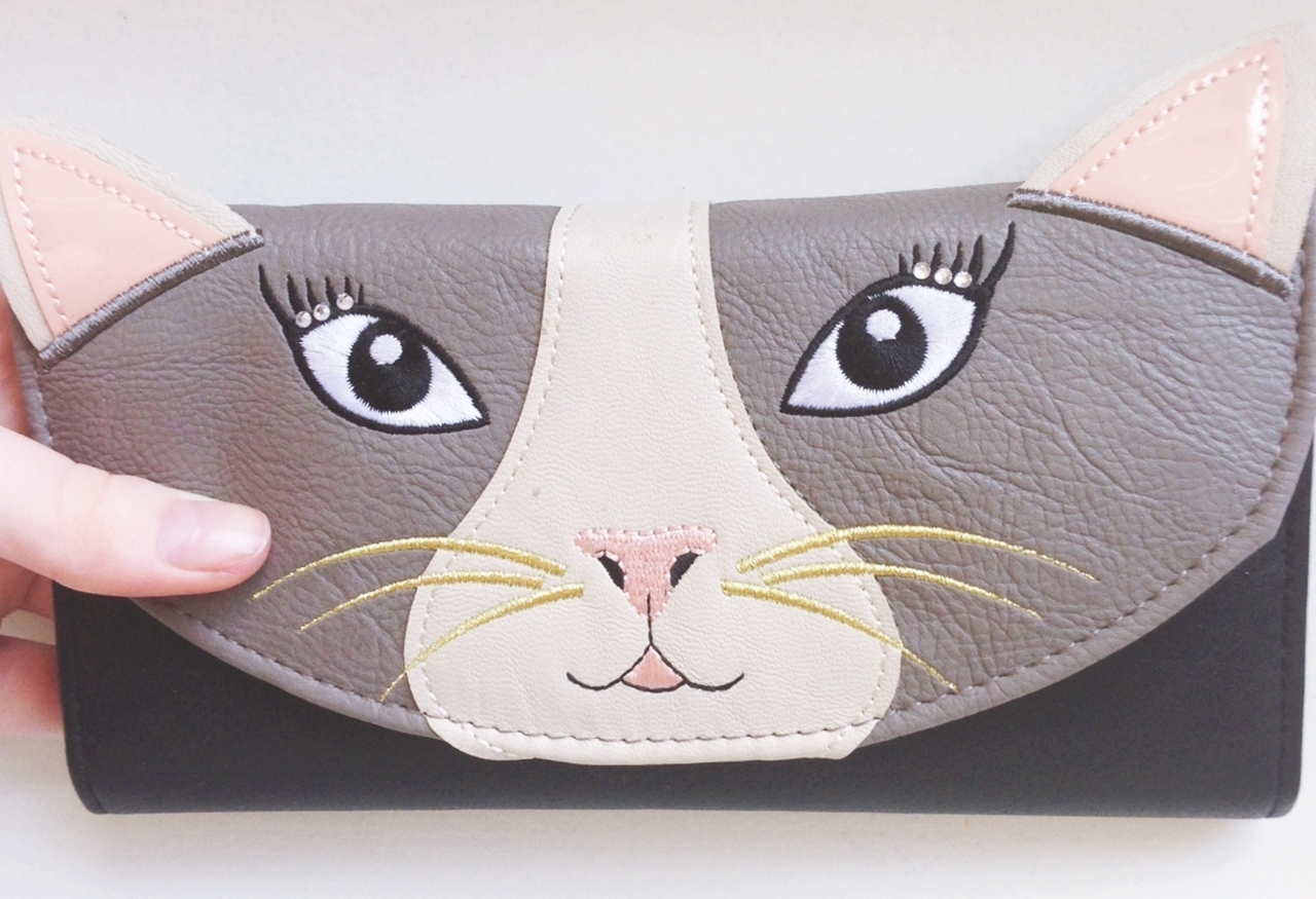 new look cat purse