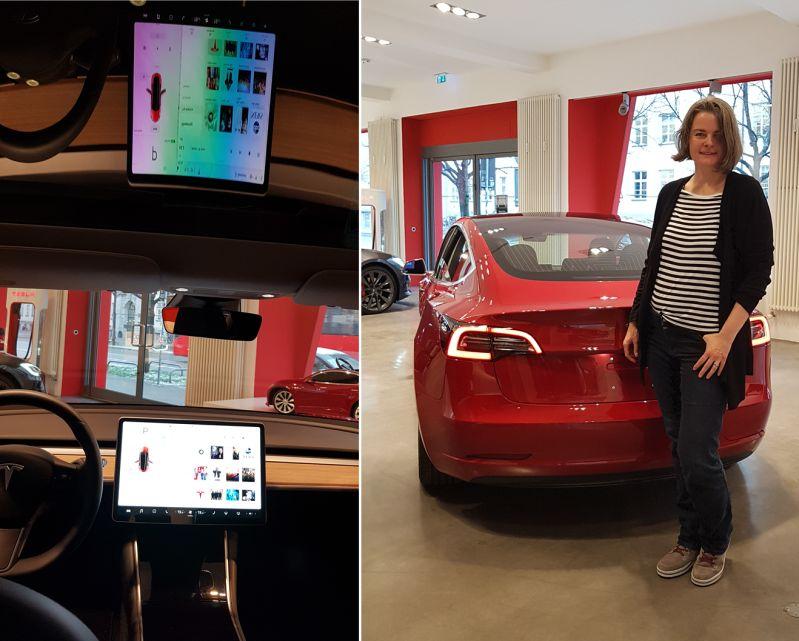 Tesla Model 3 mit durchgängigem Glasdach