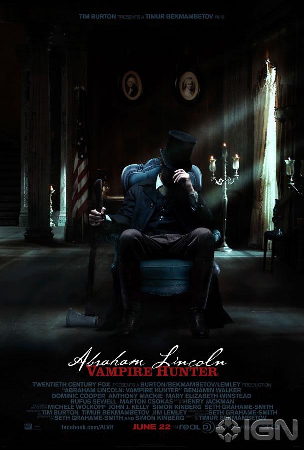 News: Abraham Lincoln - Vampire Hunter tem seus primeiros cartazes. 17