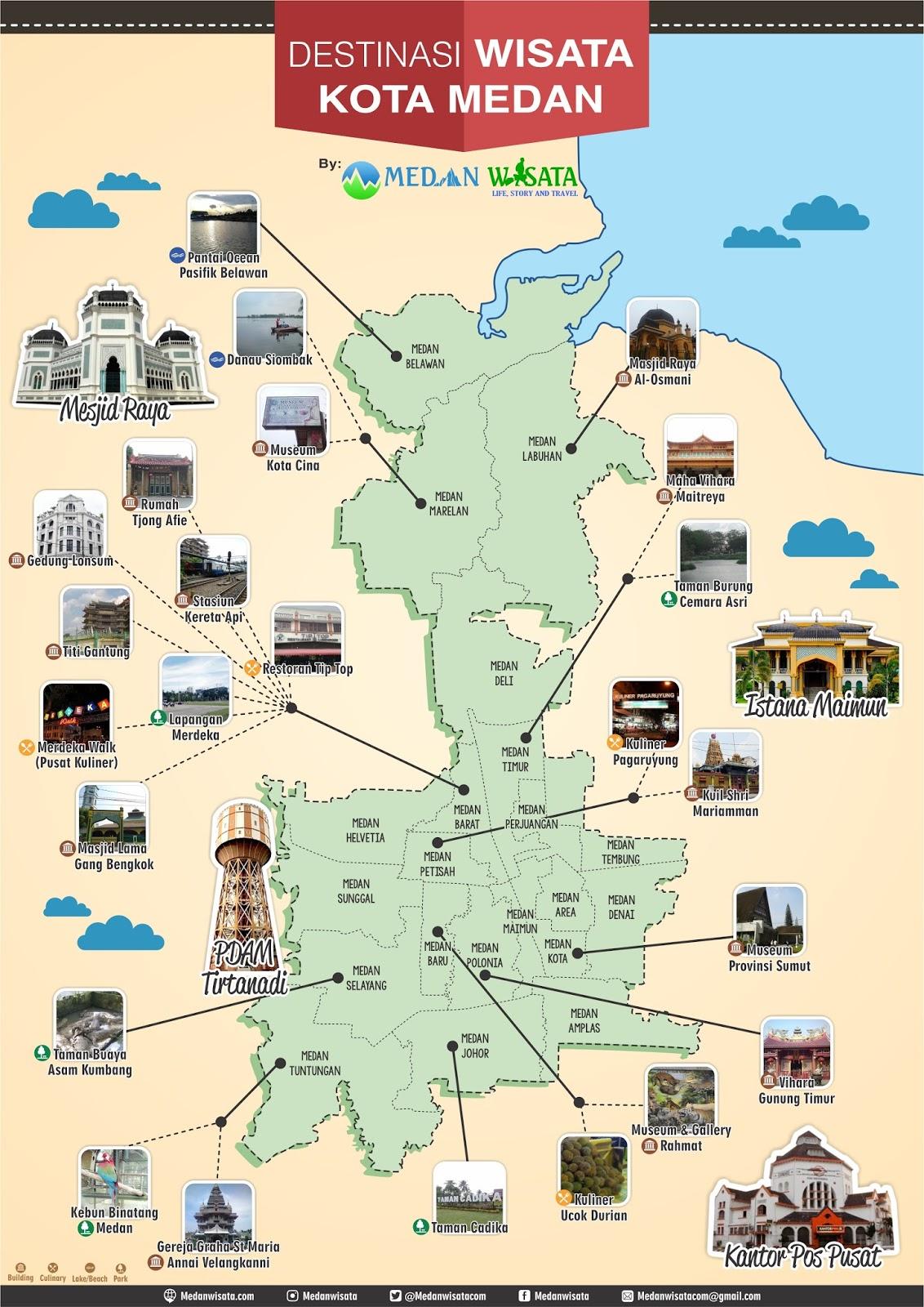 Peta Objek Tempat Wisata Kota Medan