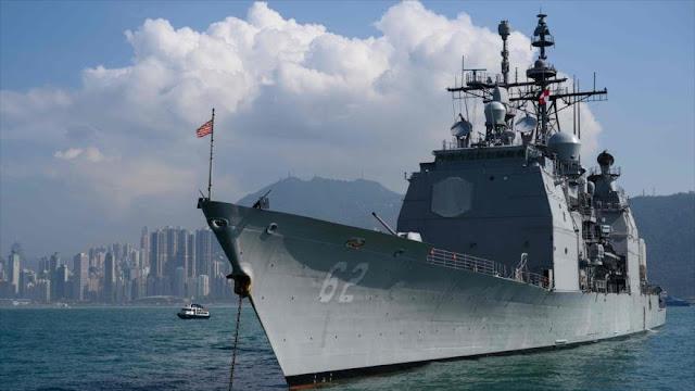 China envía buques de guerra a dar aviso a nave militar de EEUU