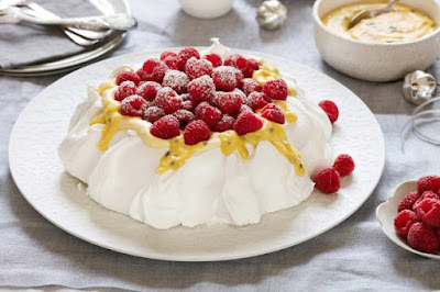 Raspberry and passionfruit pavlova desserts recipes