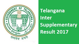 Telangana Inter Supplementary Result 2017