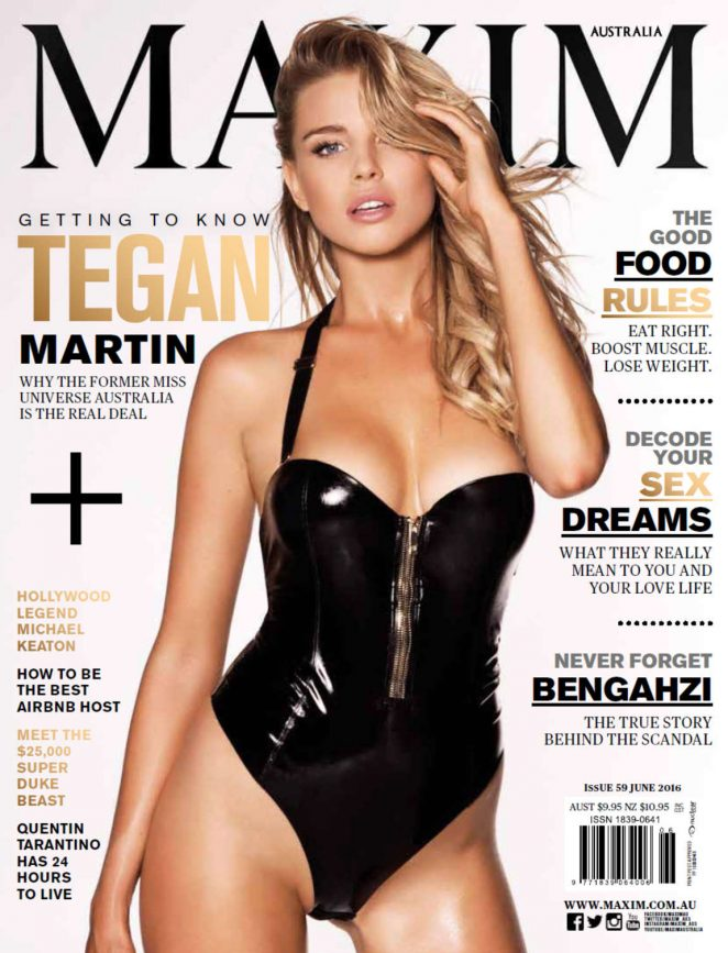Tegan Martin gets sexy for Maxim Australia June 2016