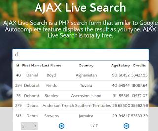 Plugin Live Search Gratis  PHP WEB