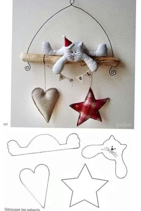 DIY - Decoração de Natal Com Feltro Super Fácil de Fazer Com Moldes 13