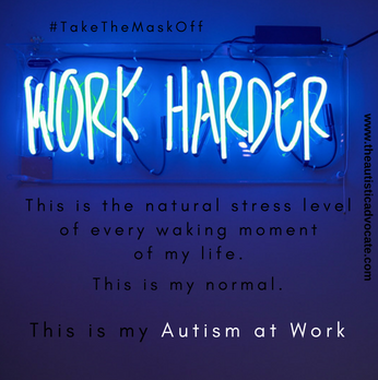 Unmasking Anxiety In Autism >> Takethemaskoff Autism At Work The Autistic Advocate