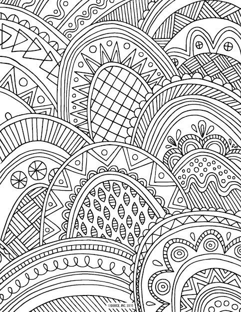 Printable Adult Coloring Page With Patterned Scales Large