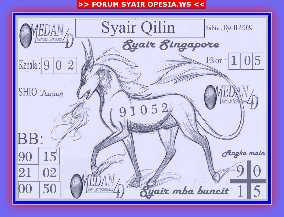Kode syair Singapore Sabtu 9 November 2019 81
