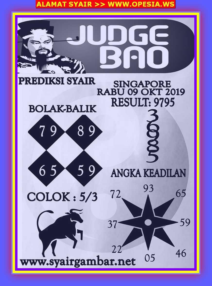 Kode syair Singapore Rabu 9 Oktober 2019 27