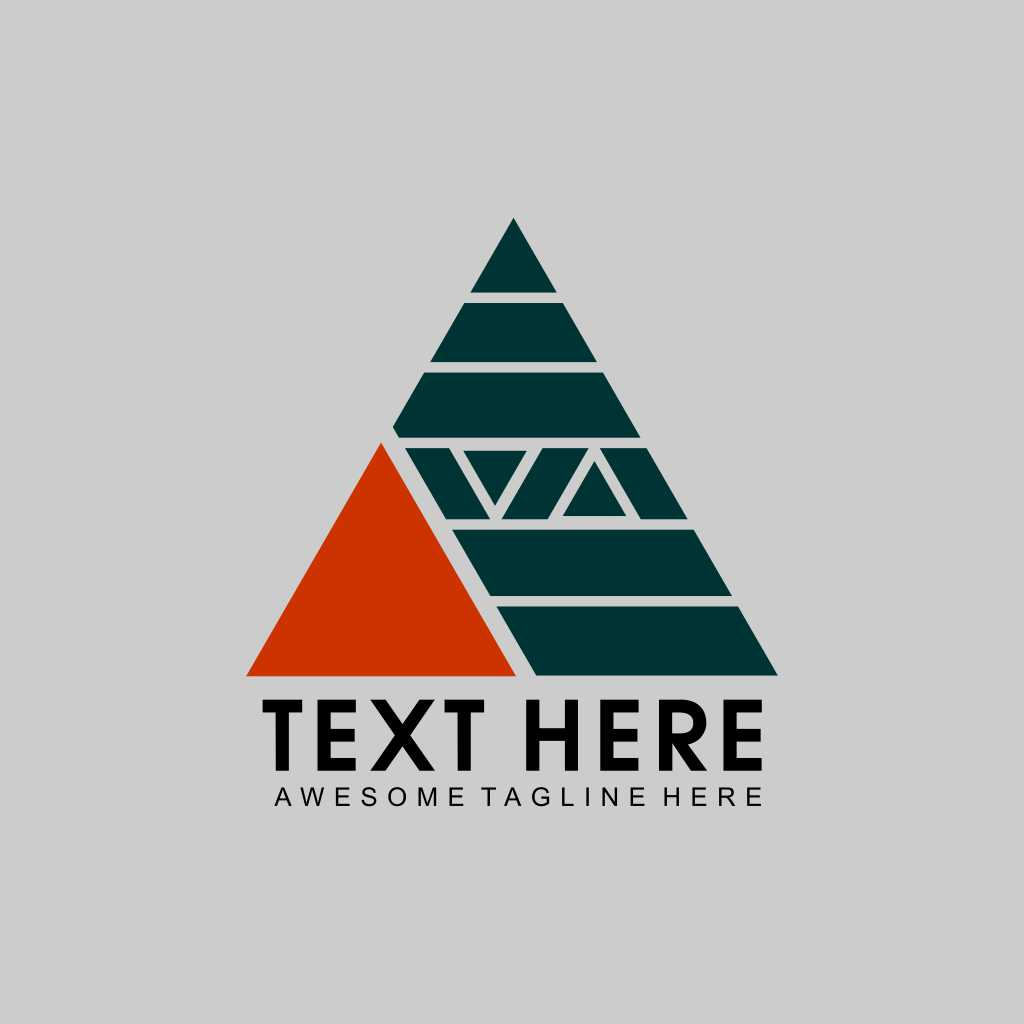 Triangle Design Striped Logo Template Free Download Vector CDR, AI, EPS and PNG Formats