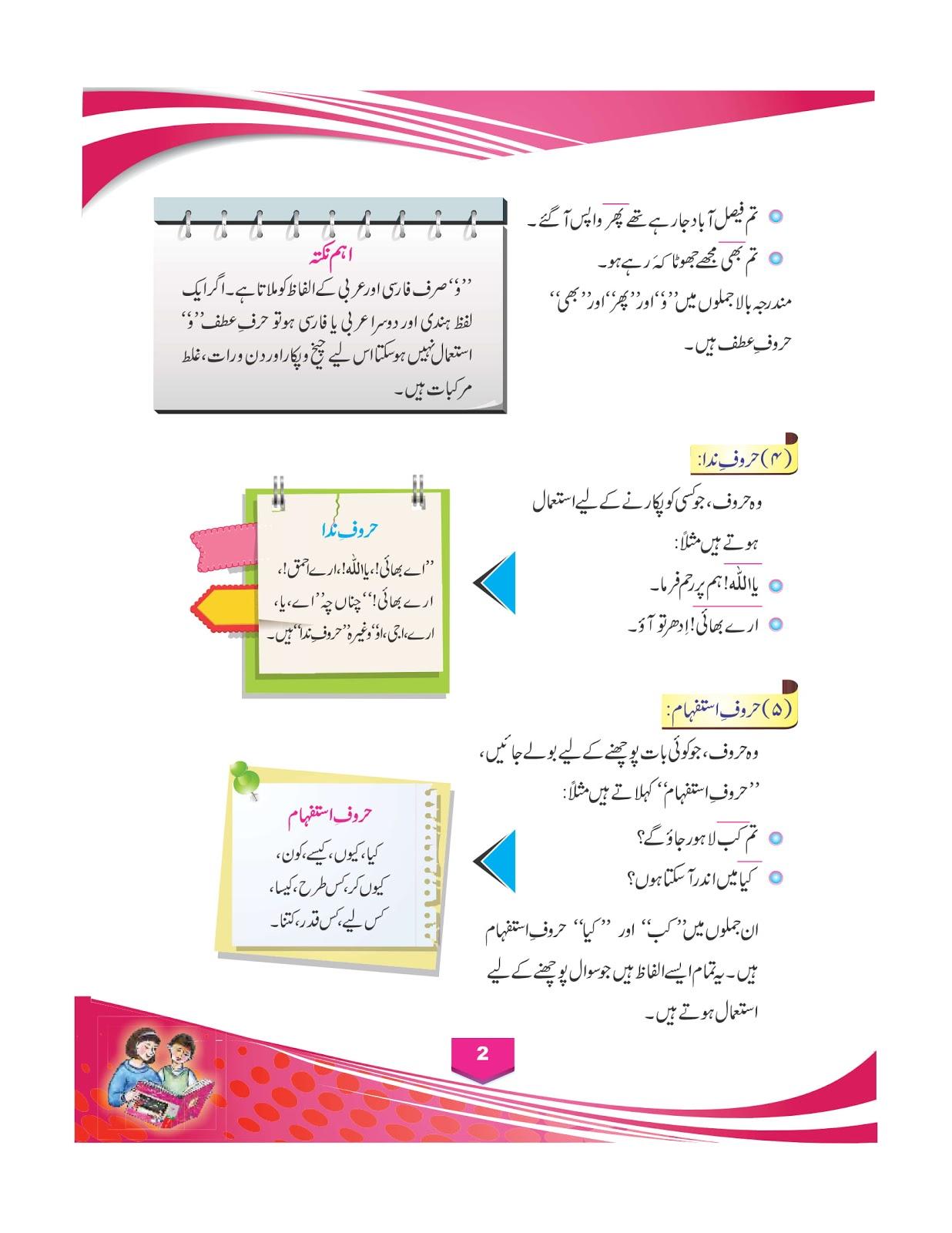 Urdu Guide Class 6th