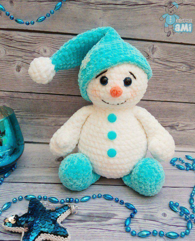 crochet plush snowman pattern amiguroom toys