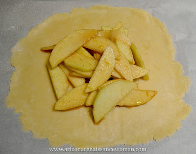 Individual Apple and White Cheddar Galettes - After Adding the Apples