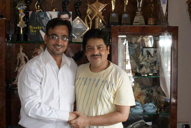 Camaal Mustafa Sikander with Udit Narayan
