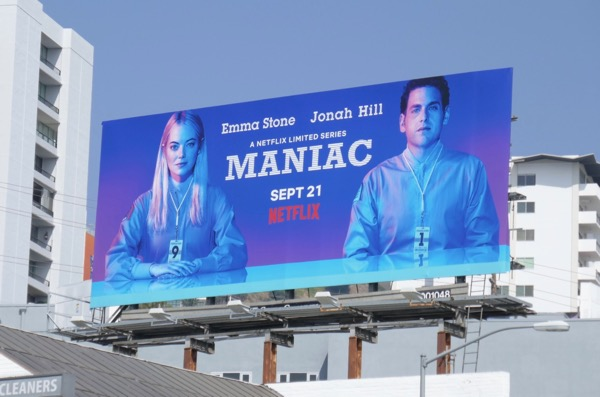 Maniac Netflix series billboard