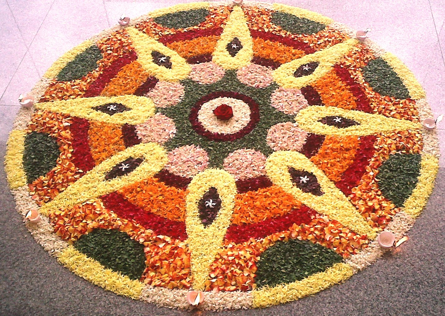 Happy Holi Rangoli Colors