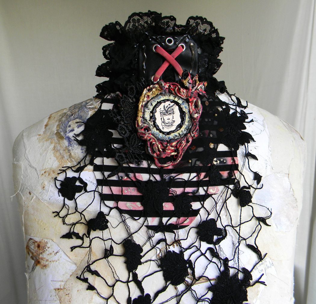 """Goth Love"" Statement Gothic Jabot/Collar"