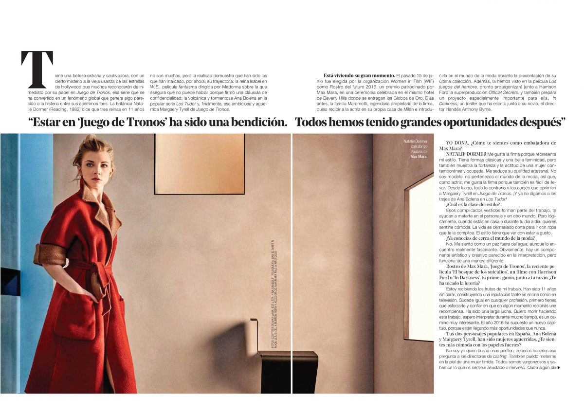 HQ Photos of Natalie Dormer Photoshoot for Yo Dona Magazine Spain August 2016 Issue