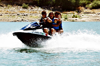 Aloha Beach Camp - Summer Camp Jet Skiing Activity at Castaic Lake, Los Angeles