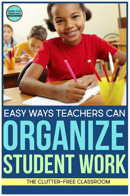 Classroom organization can be challenging! Read this blog post to learn how to manage and organize student work in a very easy way.