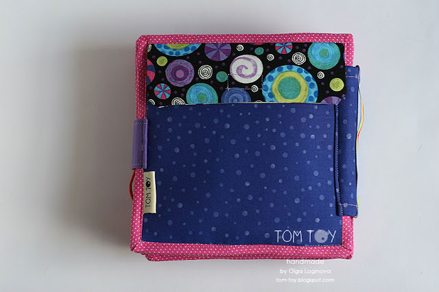 Quiet book for Olivia. Handmade busy cloth book for a girl