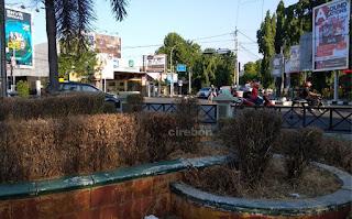 Kemarau, Sejumlah Taman Di Kota Cirebon Tidak Terawat