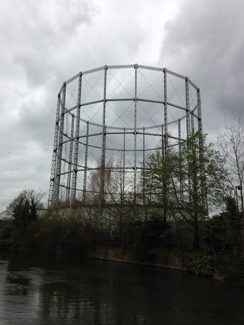 Gasometer near Reading, Berkshire