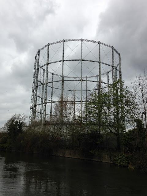 Gasometer near Reading, Berkshire