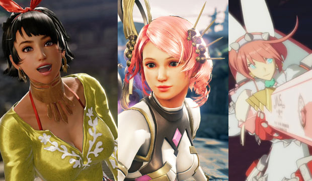 Kawaii anime girls in fighting games