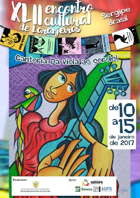 Cartaz do Encontro Cultural de Laranjeiras