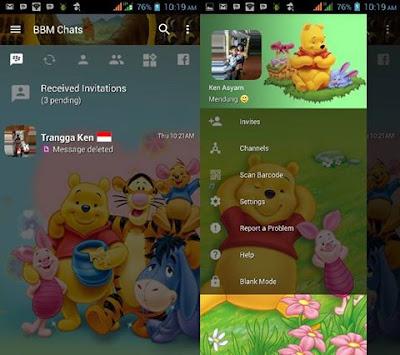 BBM Mod Winnie The Pooh v3.2.5.12 APK