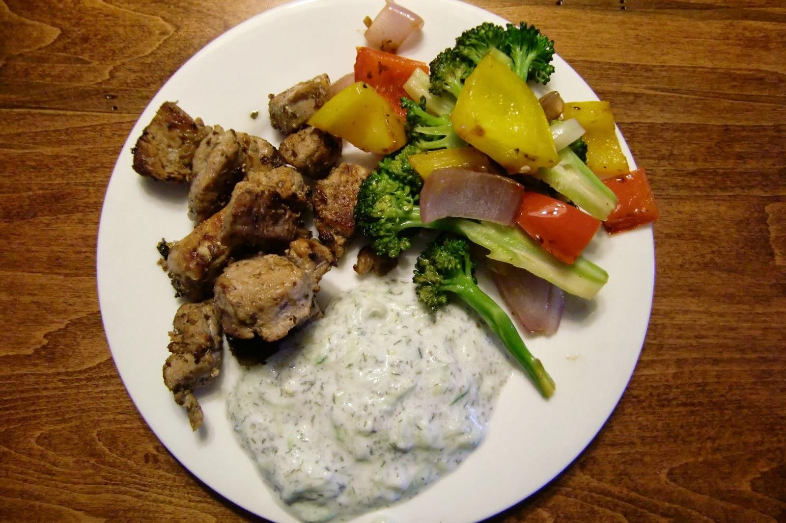 Supper Sunday: Pork Souvlaki with Tzatziki