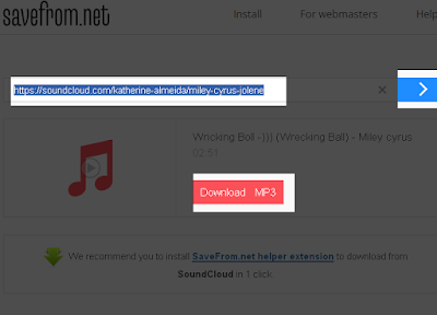 Cara download Lagu di Soundcloud tanpa software