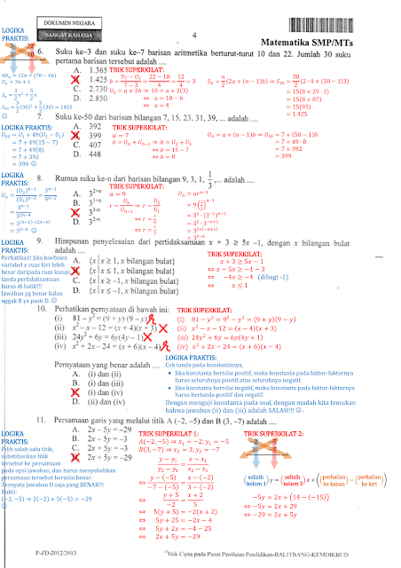 Kumpulan Soal Un Matematika Smp Pdf : kumpulan, matematika, Kumpulan, Matematika, Pembahasannya