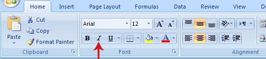 تنسيق الخلايا في Excel