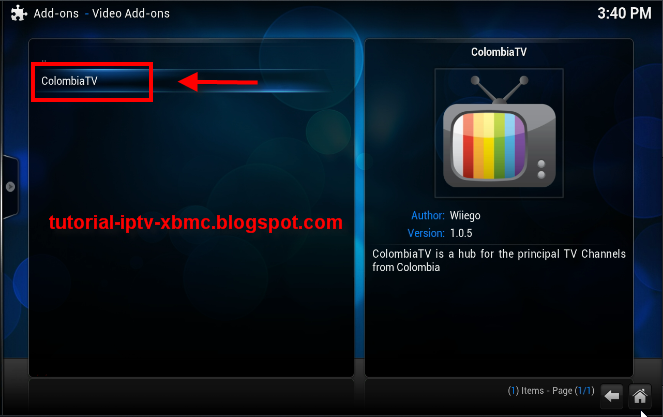 Colombia Tv Addon