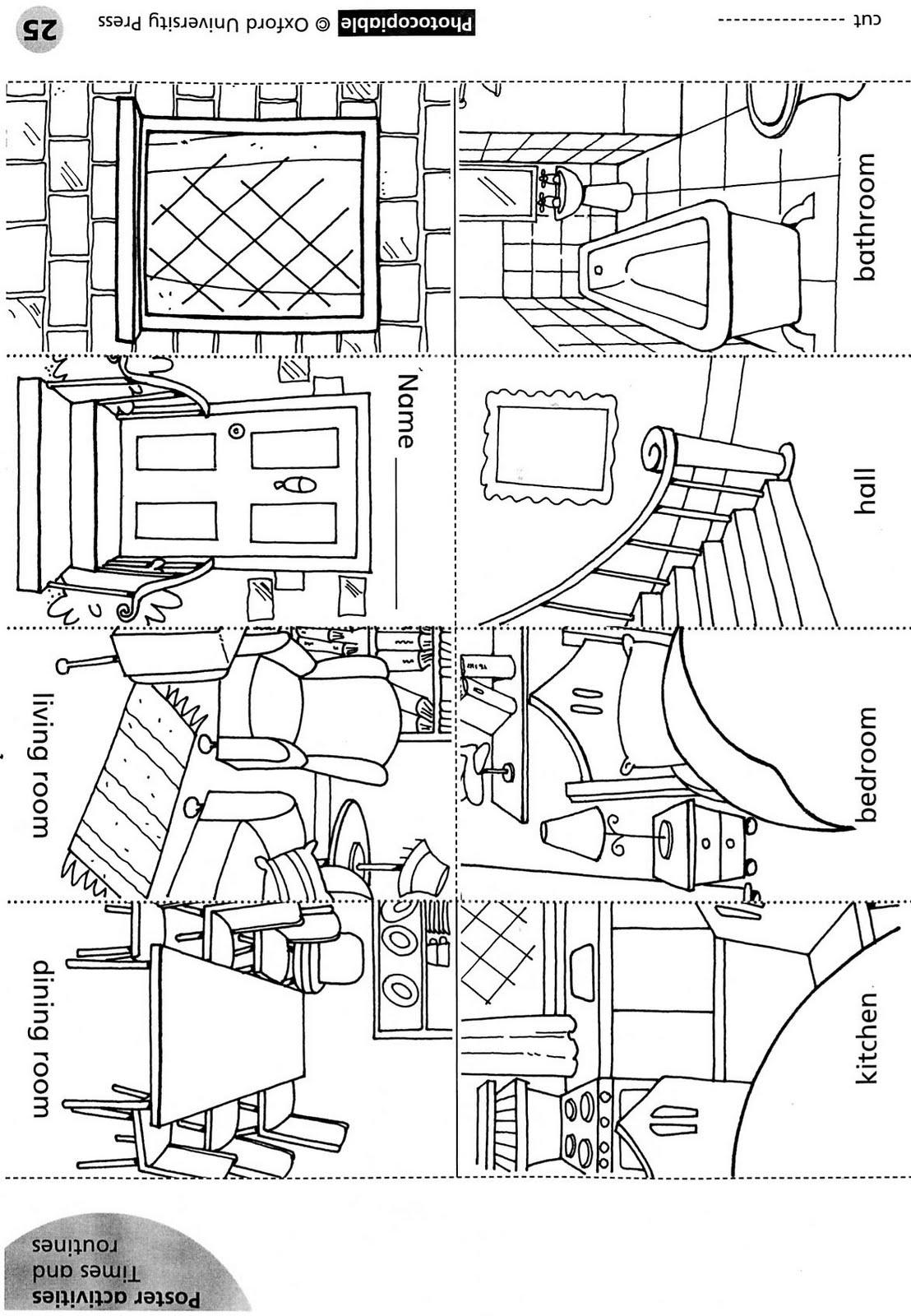 chair parts names design iron house mini book learningenglish esl